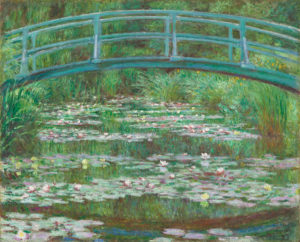 Claude Monet (French, 1840 - 1926 ), The Japanese Footbridge, 1899, oil on canvas, Gift of Victoria Nebeker Coberly, in memory of her son John W. Mudd, and Walter H. and Leonore Annenberg